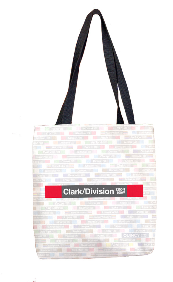 Clark/Division Tote Bag - CTAGifts.com