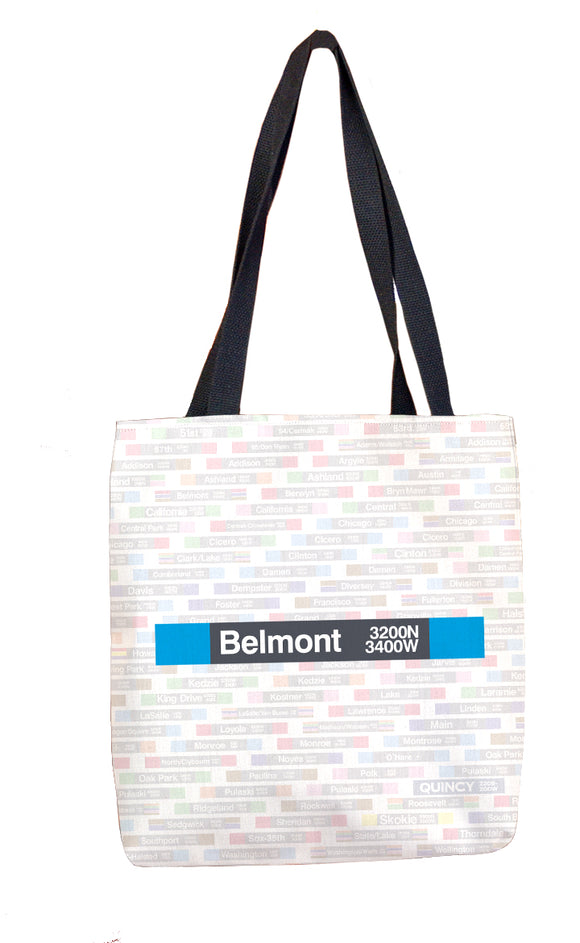 Belmont (Blue) Tote Bag