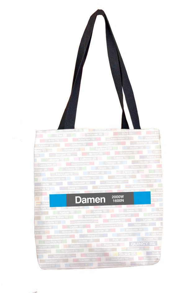 Damen (Blue) Tote Bag