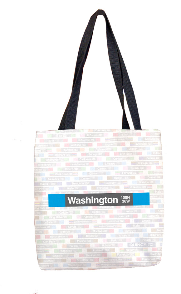 Washington (Blue) Tote Bag