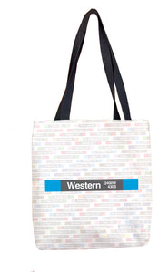 Western (Blue 2400W 430S) Tote Bag