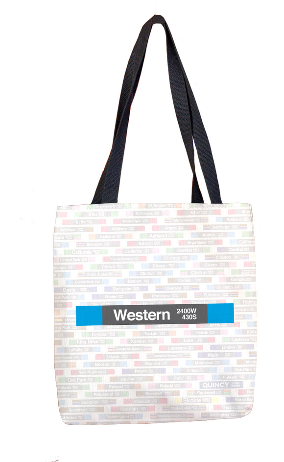 Western (Blue 2400W 430S) Tote Bag - CTAGifts.com
