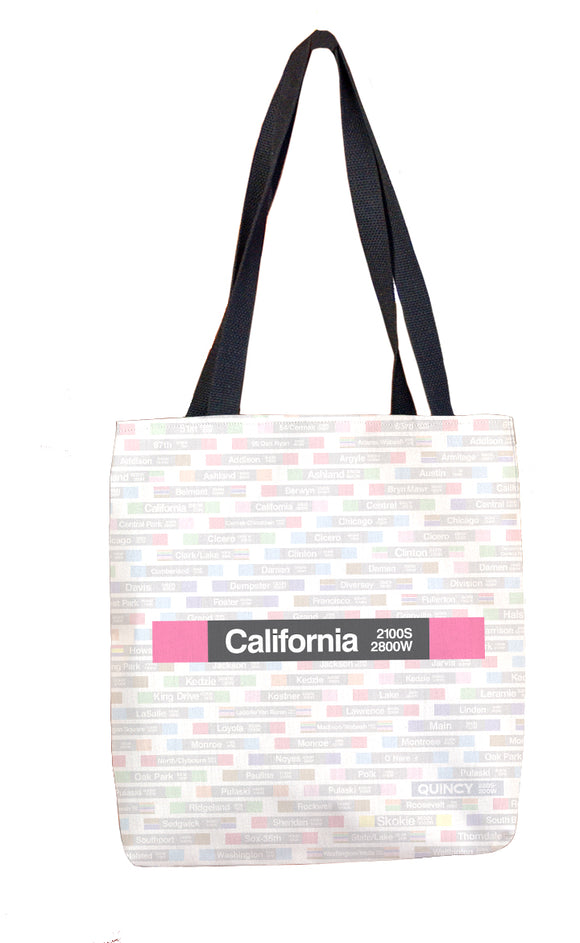 California (Pink) Tote Bag