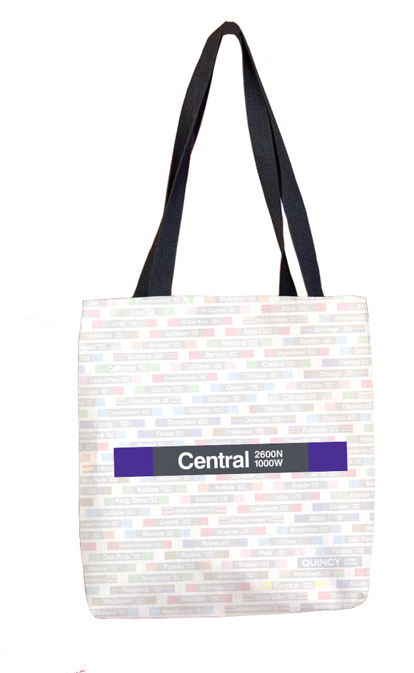 Central (Purple) Tote Bag