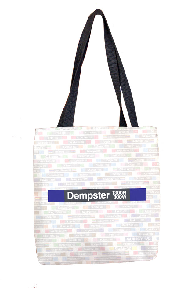 Dempster (Purple) Tote Bag - CTAGifts.com