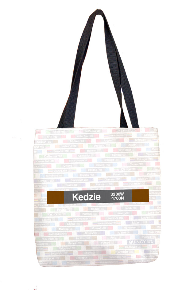 Kedzie (Brown) Tote Bag