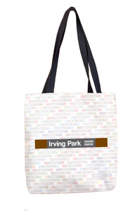 Irving Park (Brown) Tote Bag