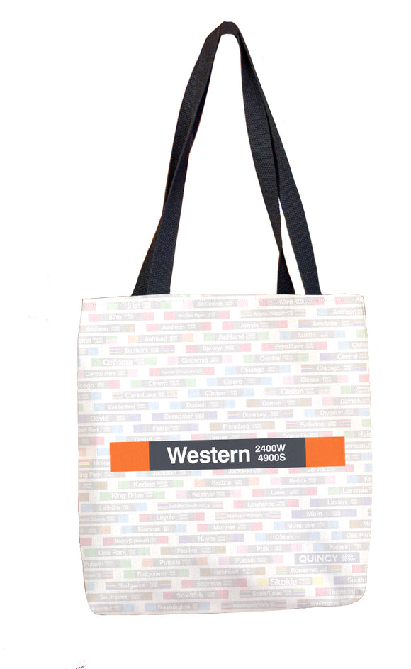 Western (Orange) Tote Bag