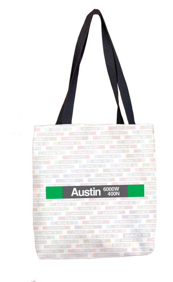 Austin (Green) Tote Bag
