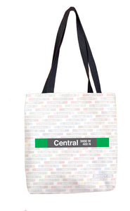 Central (Green) Tote Bag