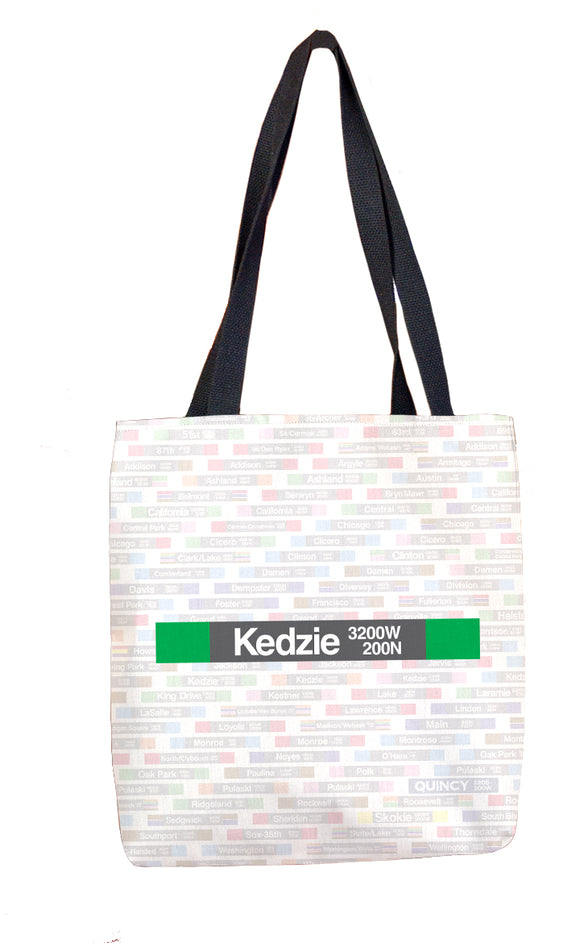 Kedzie (Green) Tote Bag - CTAGifts.com