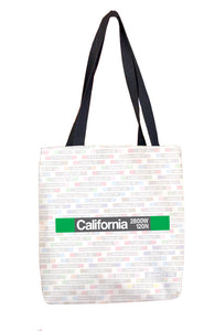California (Green) Tote Bag