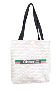 Clinton (Green) Tote Bag