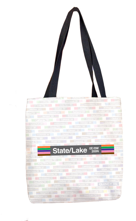 State/Lake Tote Bag