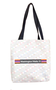 Washington/Wells (Loop) Tote Bag