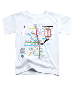 CTA Rail Map  Toddler Tee