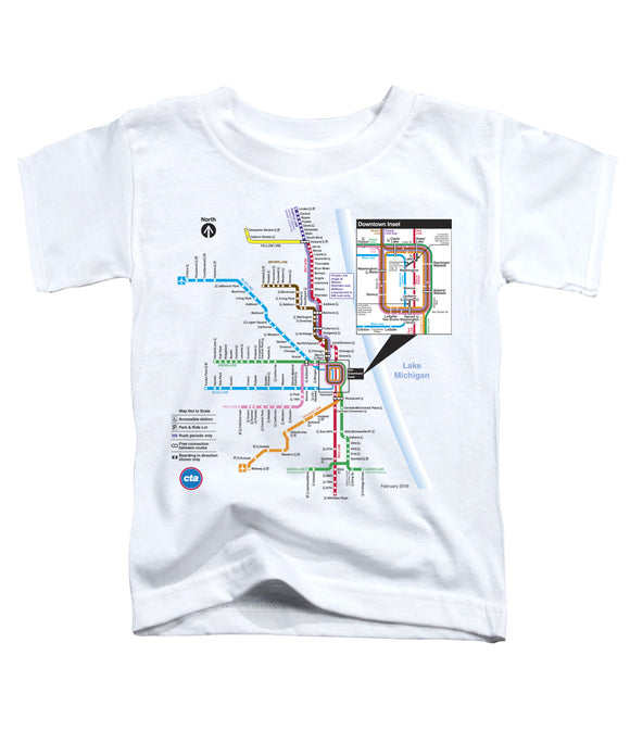 CTA Rail Map  Toddler Tee - CTAGifts.com