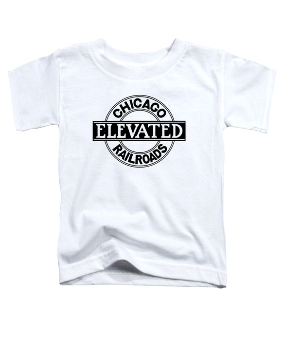 Chicago Elevated Railroads (White) Toddler Tee - CTAGifts.com