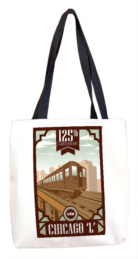 125th Anniversary (White) Tote Bag - CTAGifts.com