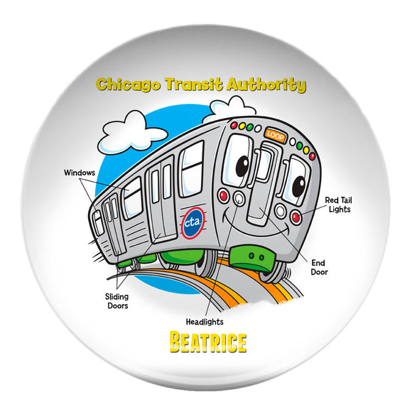 CTA Train Parts Plate - CTAGifts.com