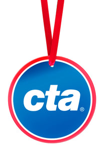 CTA Logo Glass Ornament