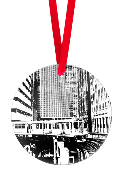 In the Loop Glass Ornament