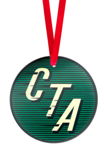 CTA Logo (1954 to 1956)  Glass Ornament