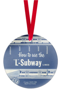 How to Use the 'L' Subway Glass Ornament