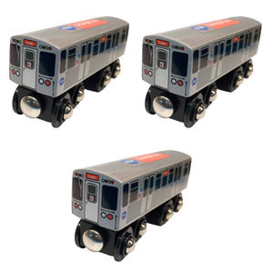 Orange Line 3 Pack (Save $3.00) Wooden Trains