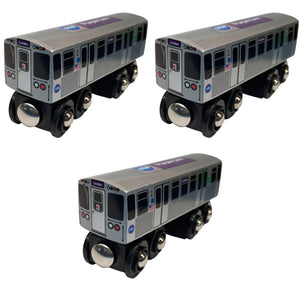 Purple Line 3 Pack (Save $3.00) Wooden Trains