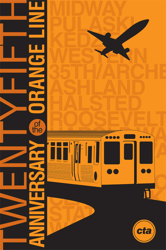 Orange Line 25th Anniversary Print