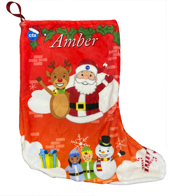 Festive Cheer (Personalized) Holiday Stocking