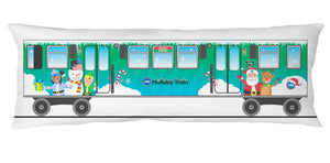 Holiday Train Body Pillow Case