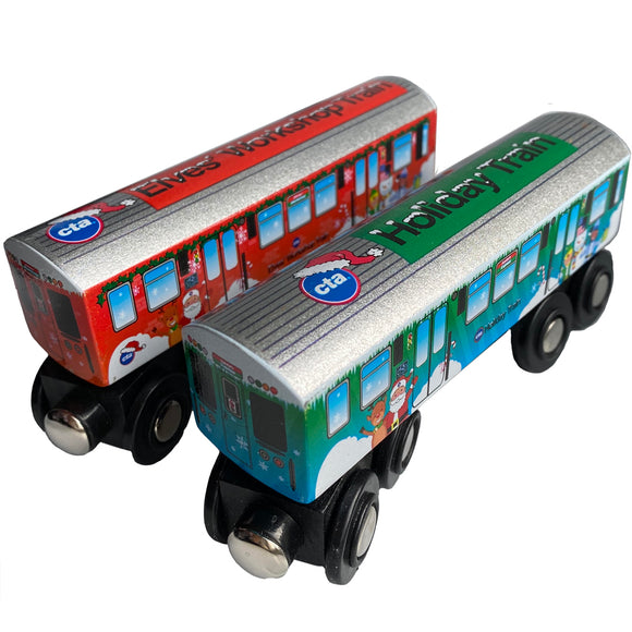 2019 CTA Holiday & Elf Train Wooden Train Combo (Pre Order)