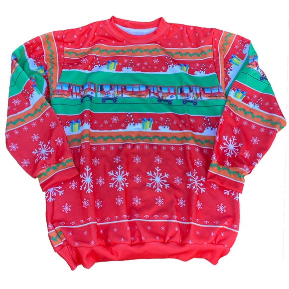 Ugly Holiday Train Sweatshirt (Red) Sweatshirt