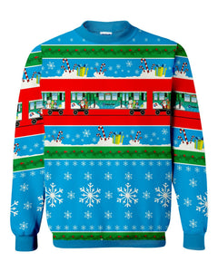 Ugly Holiday Train Sweatshirt (Green) Sweatshirt