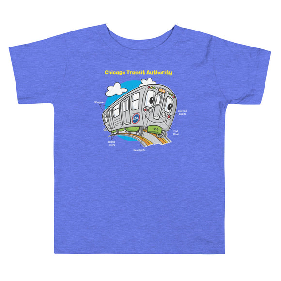 CTA Train Parts Toddler T-Shirt