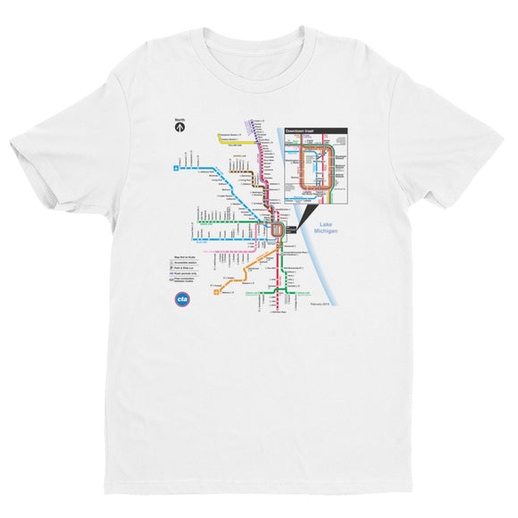 CTA Rail Map T-shirt - CTAGifts.com