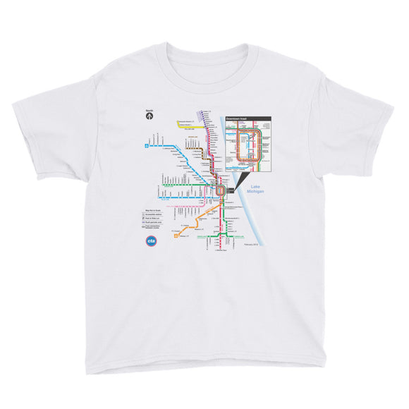 CTA Rail Map Youth T-Shirt