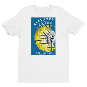 Elevated Map of Chicago T-shirt
