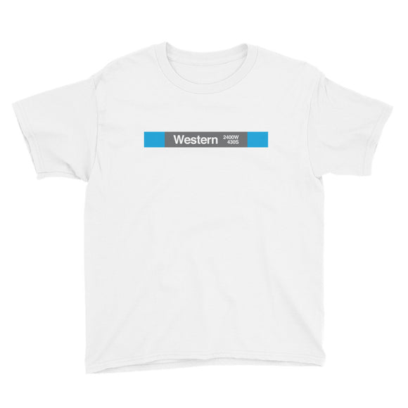 Western (Blue 2400W 430S) Youth T-Shirt - CTAGifts.com