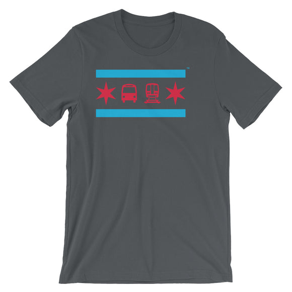 Chicago Flag Grey T-Shirt