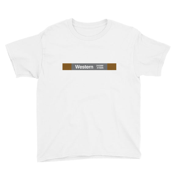 Western (Brown) Youth T-Shirt - CTAGifts.com