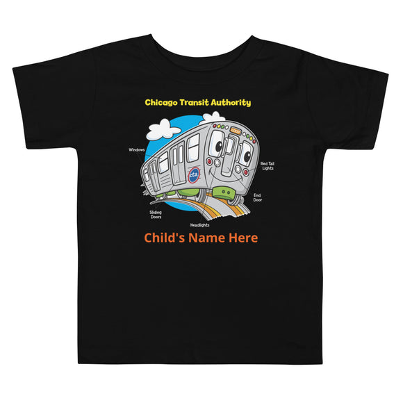 TRAIN PARTS (PERSONALIZED) TODDLER T-SHIRT