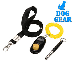 Ultrasonic Dog Training Whistle + Pet Training Clicker + Free Lanyard Set