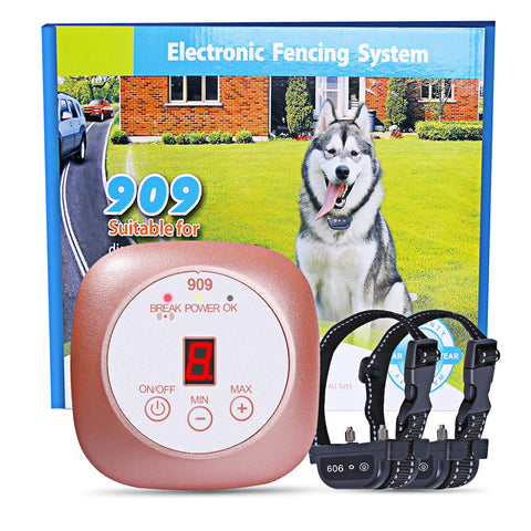 Wireless Dog Fence Invisible in-Ground Fence System Electric Dog Fence IPX8 Rechargeable Shock Collar