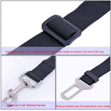 Dog Safety Harness Seat Belt Bungee Adjustable Leash Lead