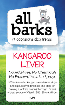 Kangaroo Liver - Available in 100g bags