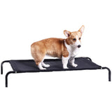 Black Dog Bed Trampoline Elevated Foldable Mesh Frame