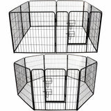 Heavy Duty Playpen for Dogs and Puppies - Enclosure Metal Fence